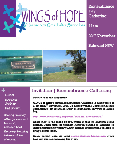 Wings of Hope - Rememberance Day