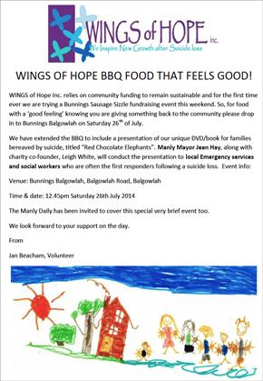 Wings of Hope - Balgowlah Bunnings BBQ